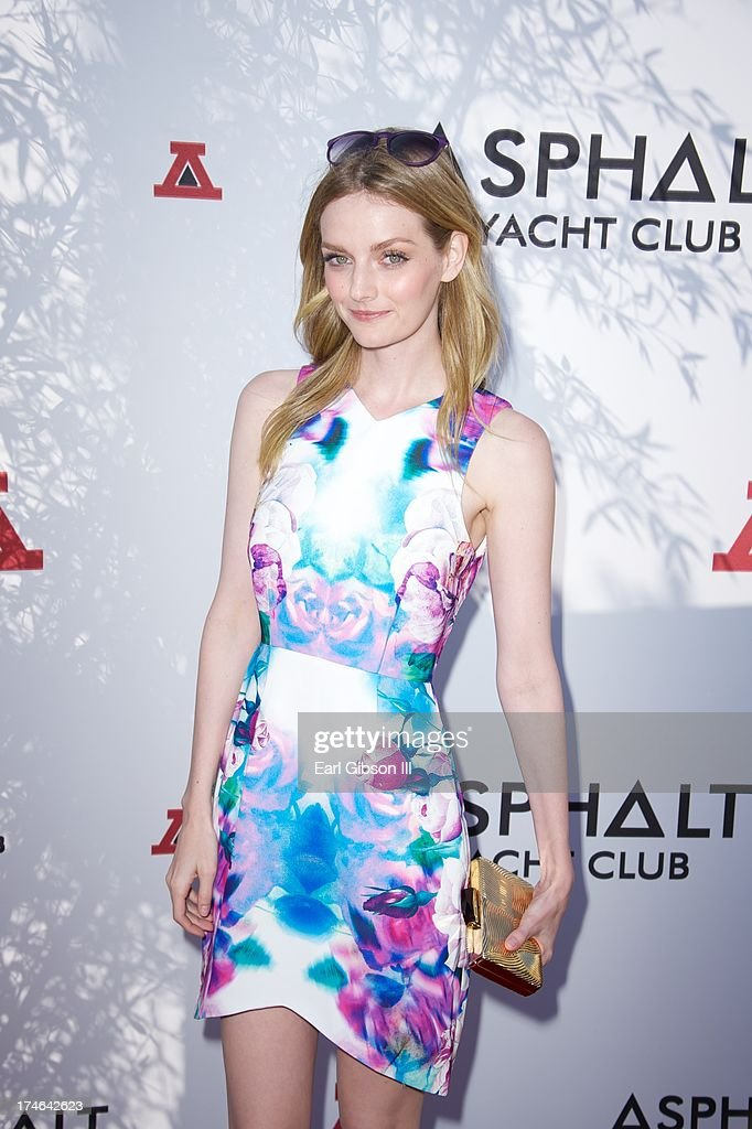 <a gi-track='captionPersonalityLinkClicked' href=/galleries/search?phrase=Lydia+Hearst&family=editorial&specificpeople=221723 ng-click='$event.stopPropagation()'>Lydia Hearst</a> attends the Asphalt Yacht Clubs launch of their apparel line at Malibu Inn on July 27, 2013 in Malibu, California.