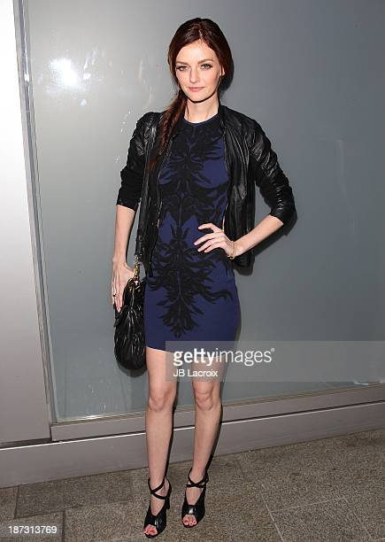 Lydia Hearst attends the Flaunt Magazine Issue Party with Selena Gomez And Amanda De Cadenet held at Hakkasan Beverly Hills on November 7 2013 in...