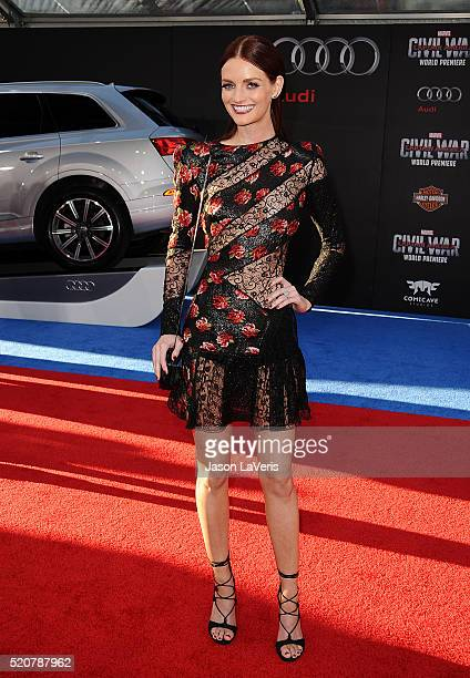 Lydia Hearst attends the premiere of 'Captain America Civil War' at Dolby Theatre on April 12 2016 in Hollywood California