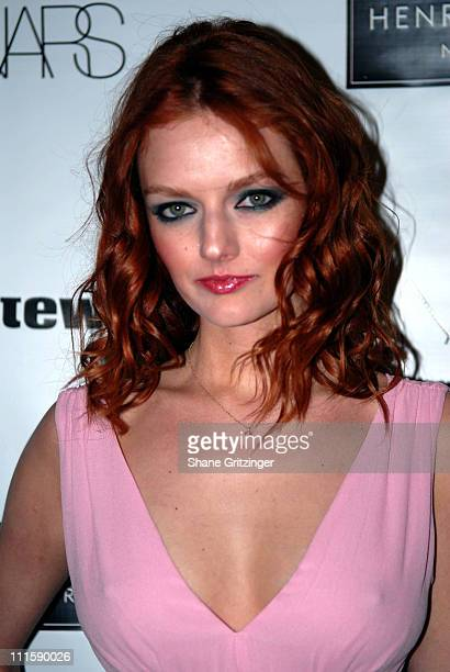 Lydia Hearst during L'Oeil de Beaute A Retrospective Honoring the Photographic Work of Francois Nars to Benefit amfAR at Henri Bendel in New York...