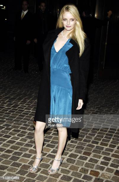 Lydia Hearst during The Cinema Society Zenith Watches Host Screening of 'Flags of our Fathers' Outside Arrivals at Tribeca Grand Hotel Grand...