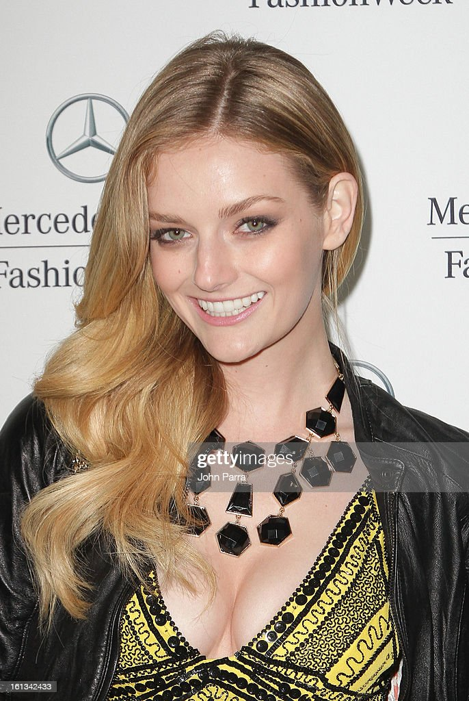 Lydia Hearst is seen during Fall 2013 Mercedes-Benz Fashion Week at Lincoln Center for the Performing Arts on February 9, 2013 in New York City.