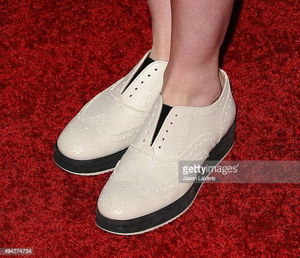 Lydia Hearst shoe detail attends the Elizabeth Glaser Pediatric AIDS Foundation's 26th A Time For Heroes family festival at Smashbox Studios on...
