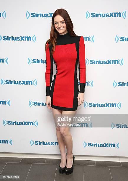 Lydia Hearst visits at SiriusXM Studios on November 18 2015 in New York City