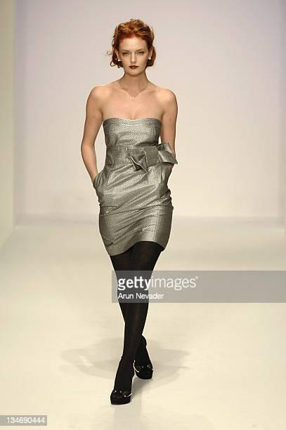 Lydia Hearst wearing Alvin Valley Fall 2007 during MercedesBenz Fall 2007 LA Fashion Week at Smashbox Studios Alvin Valley Runway at Smashbox Studios...