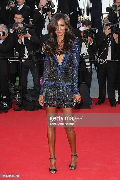 Lydia Kebede attends the 'Mr Turner' Premiere at the 67th Annual Cannes Film Festival on May 15 2014 in Cannes France