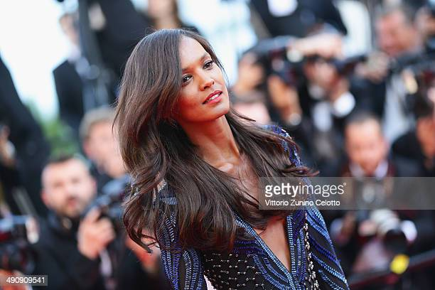 Lydia Kebede attends the 'Mr Turner' premiere during the 67th Annual Cannes Film Festival on May 15 2014 in Cannes France