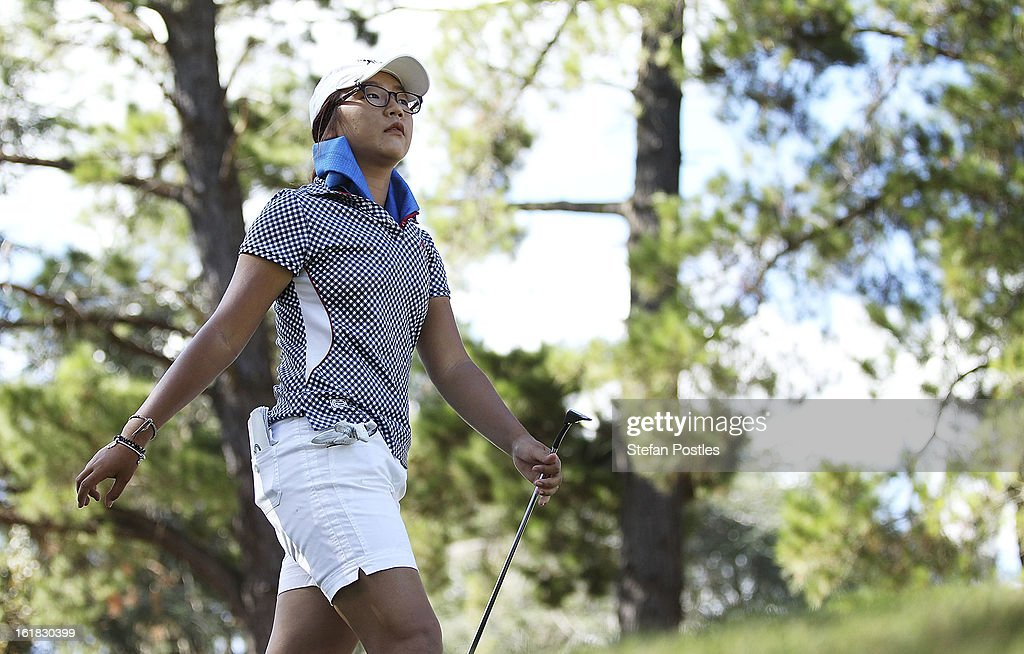 <a gi-track='captionPersonalityLinkClicked' href=/galleries/search?phrase=Lydia+Ko&family=editorial&specificpeople=5817103 ng-click='$event.stopPropagation()'>Lydia Ko</a> from New Zealand walks off the tee of the par 3 13th hole during day four of the ISPS Handa Australian Open at Royal Canberra Golf Club on February 17, 2013 in Canberra, Australia.