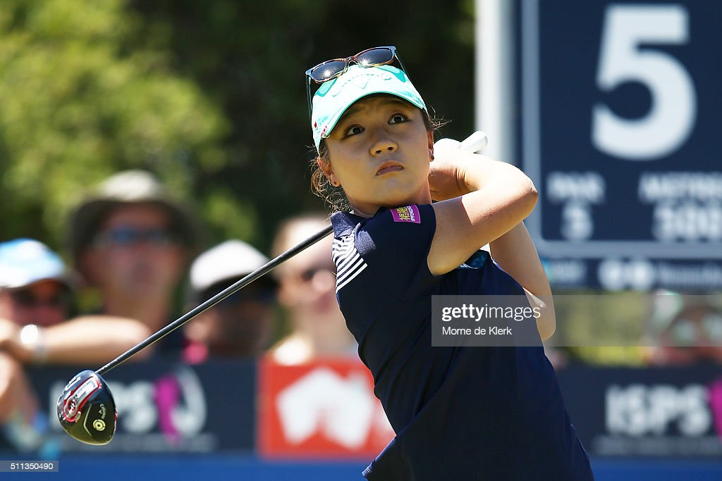 Lydia Ko of New Zealand competes during day three of the ISPS Handa Women's Australian Open at The Grange GC on February 20, 2016 in Adelaide, Australia.