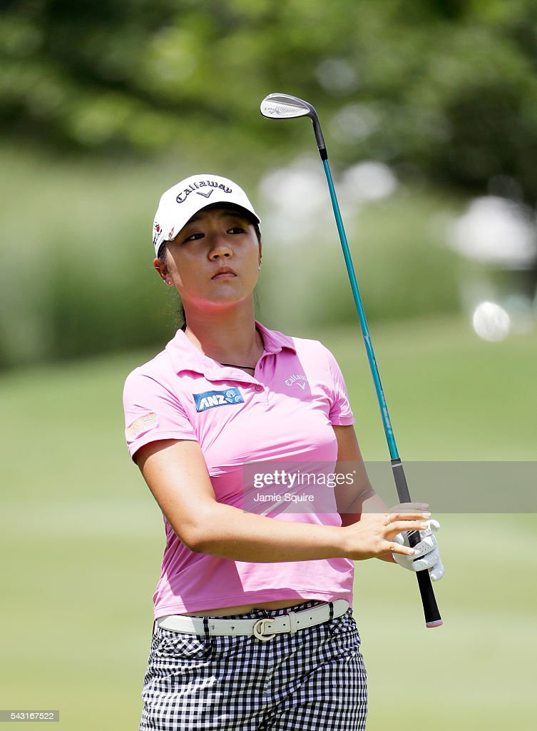<a gi-track='captionPersonalityLinkClicked' href=/galleries/search?phrase=Lydia+Ko&family=editorial&specificpeople=5817103 ng-click='$event.stopPropagation()'>Lydia Ko</a> of New Zealand hits her first shot on the 1st hole during the final round of the Walmart NW Arkansas Championship Presented by P&G on June 26, 2016 at Pinnacle Country Club in Rogers, Arkansas.