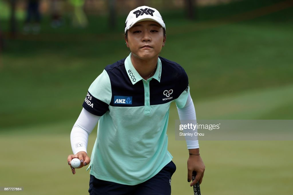 Lydia Ko of New Zealand in action during day four of the Sime Darby LPGA Malaysia at TPC Kuala Lumpur East Course on October 29, 2017 in Kuala Lumpur, Malaysia.