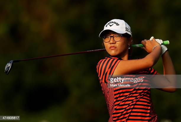 Lydia Ko of New Zealand in action during the Pro Am event prior to the start of the HSBC Women's Champions at the Sentosa Golf Club on February 26...