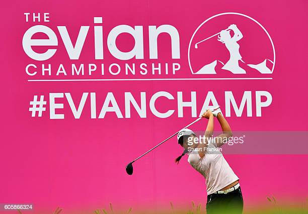 Lydia Ko of New Zealand plays a shot during the first round of The Evian Championship on September 15 2016 in EvianlesBains France