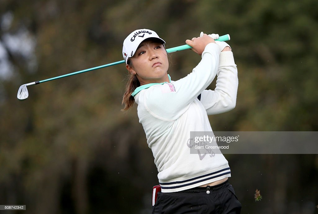 <a gi-track='captionPersonalityLinkClicked' href=/galleries/search?phrase=Lydia+Ko&family=editorial&specificpeople=5817103 ng-click='$event.stopPropagation()'>Lydia Ko</a> of New Zealand plays a shot on the 15th hole during the continuation of the third round of the Coates Golf Championship Presented By R+L Carriers at Golden Ocala Golf Club on February 6, 2016 in Ocala, Florida.