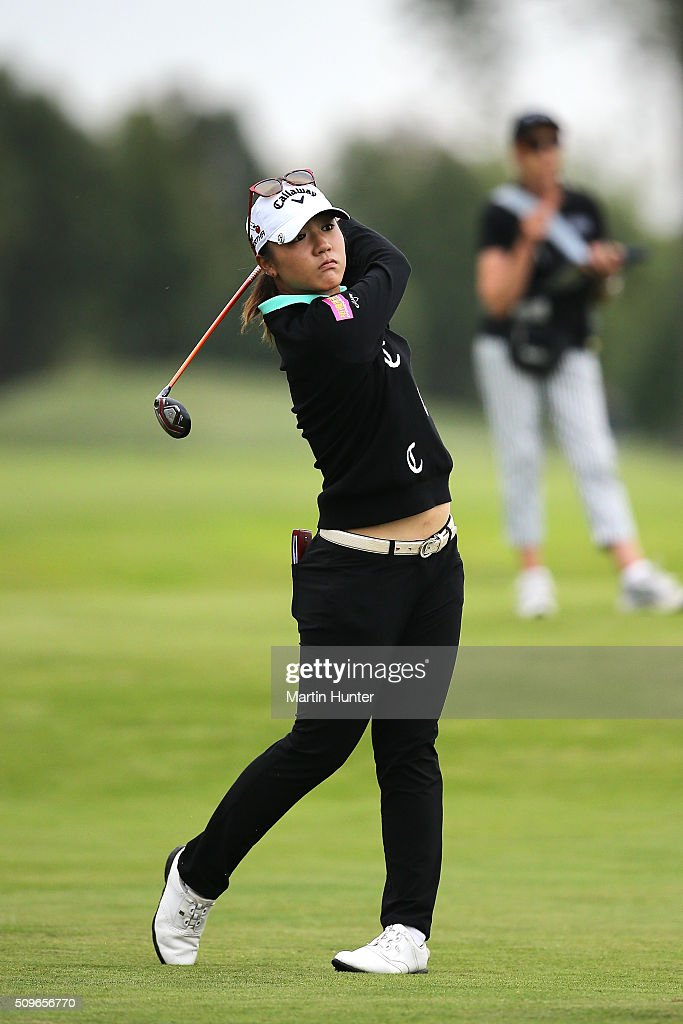 Lydia Ko of New Zealand plays his approach shot during the 1st round of the New Zealand Women's Open at Clearwater Golf Club on February 12, 2016 in Christchurch, New Zealand.