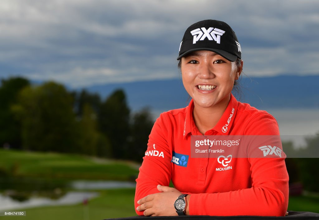Lydia Ko of New Zealand poses for a picture after the pro - am prior to the start of The Evian Championship at Evian Resort Golf Club on September 13, 2017 in Evian-les-Bains, France.