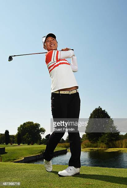 Lydia Ko of New Zealand poses for a picture prior to the start of the Evian Championship Golf on September 9 2015 in EvianlesBains France