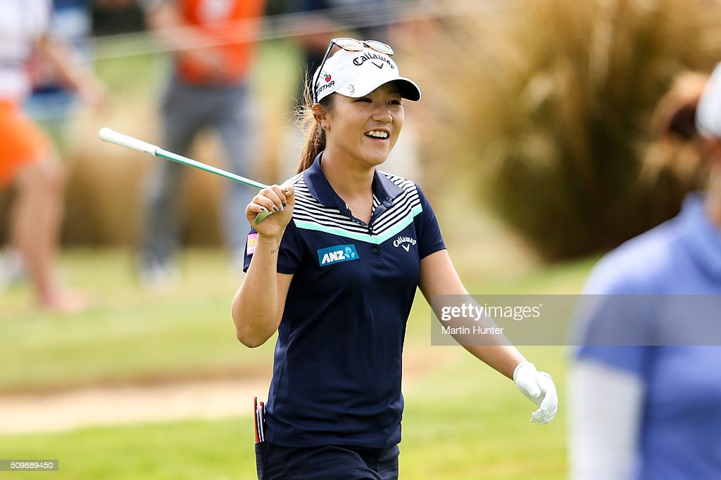 <a gi-track='captionPersonalityLinkClicked' href=/galleries/search?phrase=Lydia+Ko&family=editorial&specificpeople=5817103 ng-click='$event.stopPropagation()'>Lydia Ko</a> of New Zealand smiles as she walks the fairway during the 2nd round of the New Zealand Women's Open at Clearwater Golf Club on February 13, 2016 in Christchurch, New Zealand.