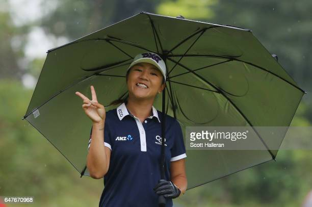 Lydia Ko of New Zealand walks off the seventh tee during the third round of the HSBC Women's Champions on the Tanjong Course at Sentosa Golf Club on...