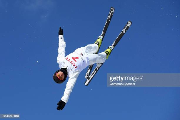 Lydia Lassila of Australia competes in the FIS Freestyle Ski World Cup 2016/17 Ladies Aerials at Bokwang Snow Park on February 10 2017 in...