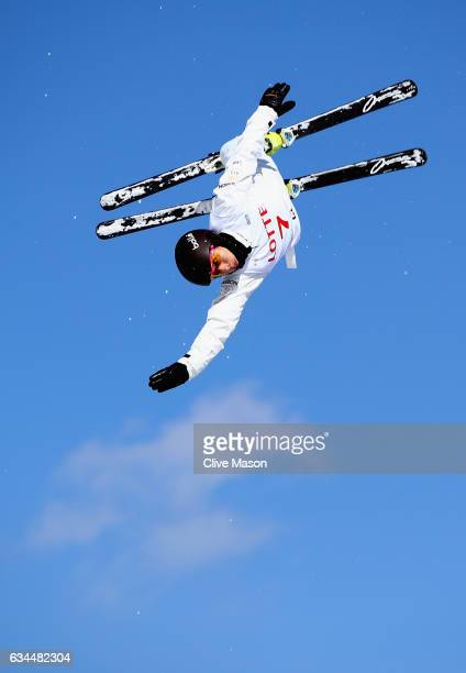 Lydia Lassila of Australia in action during quaification for Ladies Aerials at the FIS Freestyle Ski World Cup 2016/17 Aerials at Bokwang Snow Park...