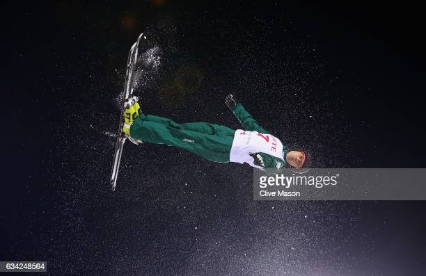 Lydia Lassila of Australia in action during womens aerials training prior to the FIS Freestyle World Cup at Bokwang Snow Park on February 8 2017 in...
