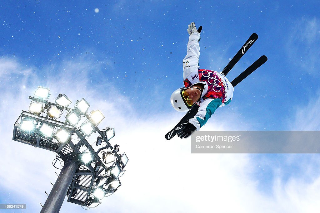 <a gi-track='captionPersonalityLinkClicked' href=/galleries/search?phrase=Lydia+Lassila&family=editorial&specificpeople=4859096 ng-click='$event.stopPropagation()'>Lydia Lassila</a> of Australia practices before the Freestyle Skiing Ladies' Aerials Qualification on day seven of the Sochi 2014 Winter Olympics at Rosa Khutor Extreme Park on February 14, 2014 in Sochi, Russia.