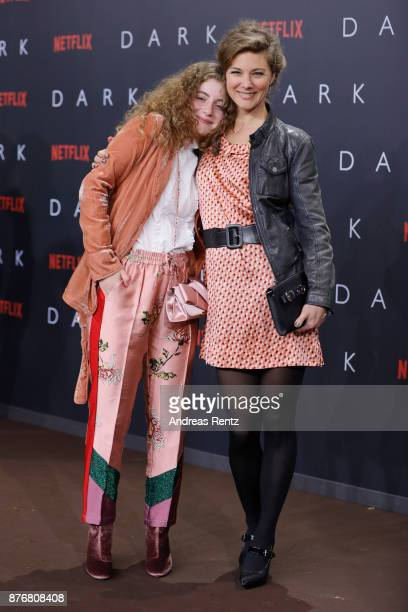 Lydia Maria Makrides and Cordelia Wege attend the premiere of the first German Netflix series 'Dark' at Zoo Palast on November 20 2017 in Berlin...