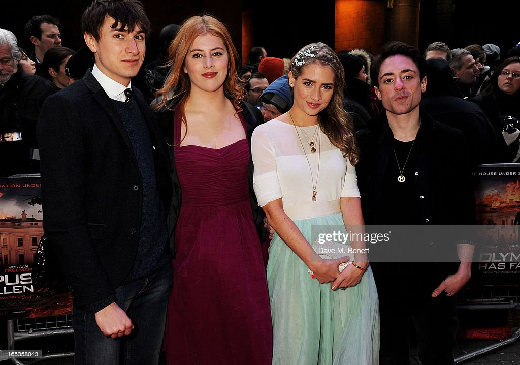 Lydia Rose Bewley, Tom Rosenthal, Sophie Colquhoun and Ryan Sampson attend the UK Premiere of 'Olympus Has Fallen' at BFI IMAX on April 3, 2013 in London, England.