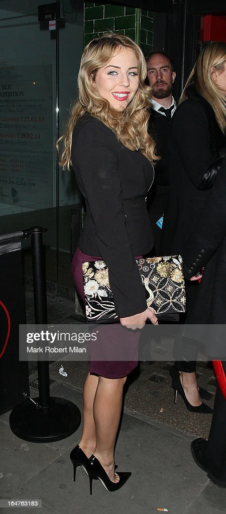 Lydia Rose Bright at 151 Kings Road on March 27, 2013 in London, England.