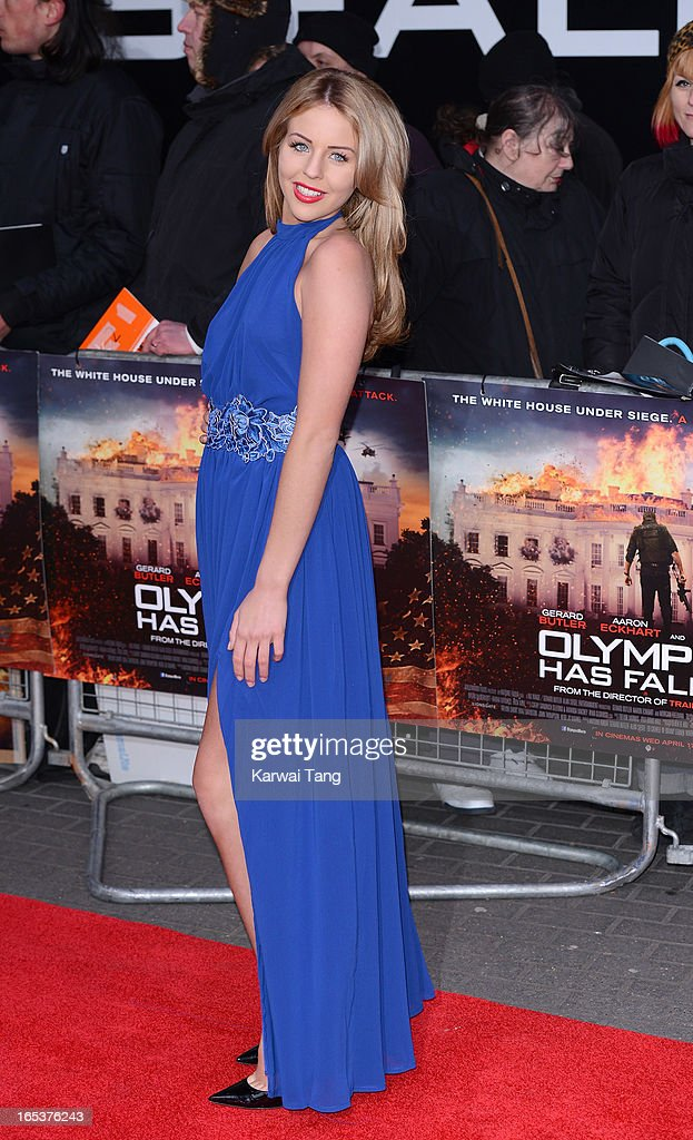 Lydia Rose Bright attends the UK premiere of 'Olympus Has Fallen' at BFI IMAX on April 3, 2013 in London, England.