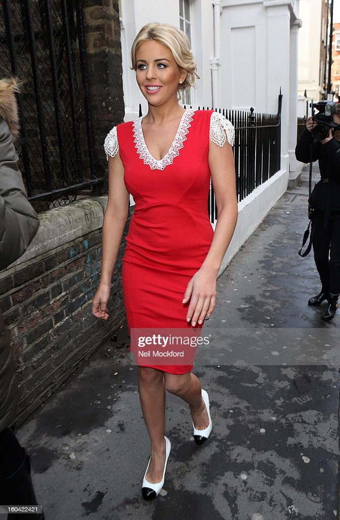 Lydia Rose Bright sighted attending the launch of her Spring/Summer 2013 fashion presentation at the House of St Barnabas on January 31, 2013 in London, England.