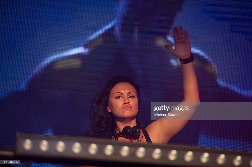 DJ Lydia Sanz spins during MATINEE New York Pride 2013 at Governor's Island on June 29, 2013 in New York City.