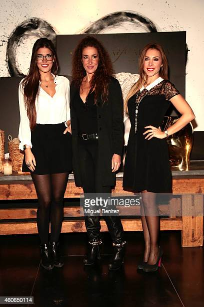 Lydia Torrent Elsa Anka and 'Gisela' Gisela Llado attend the presentation of the new 'Carrera y Carrera' jewelry collection at Espacio Azul Tierra on...