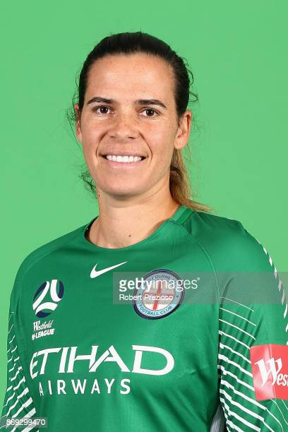 Lydia Williams poses during the Melbourne City WLeague headshots session on November 2 2017 in Melbourne Australia