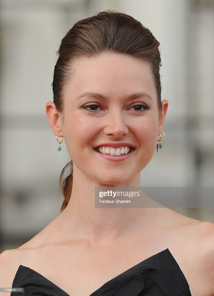 Lydia Wilson attends the World Premiere of 'About Time' at Somerset House on August 8, 2013 in London, England.