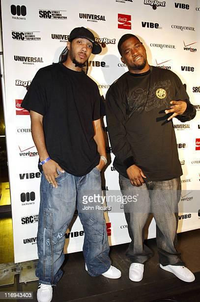 Lyfe and David Banner during Universal / Motown Artist Showcase August 30 2005 at Eugene's in New York New York United States