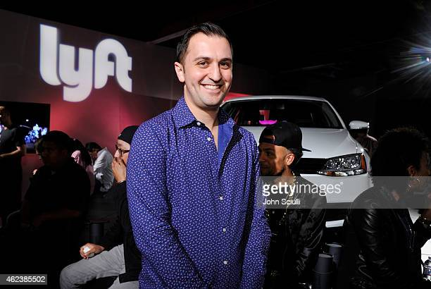 Lyft Cofounder John Zimmer attends the Lyft driver rally at Siren Studios on January 27 2015 in Hollywood California