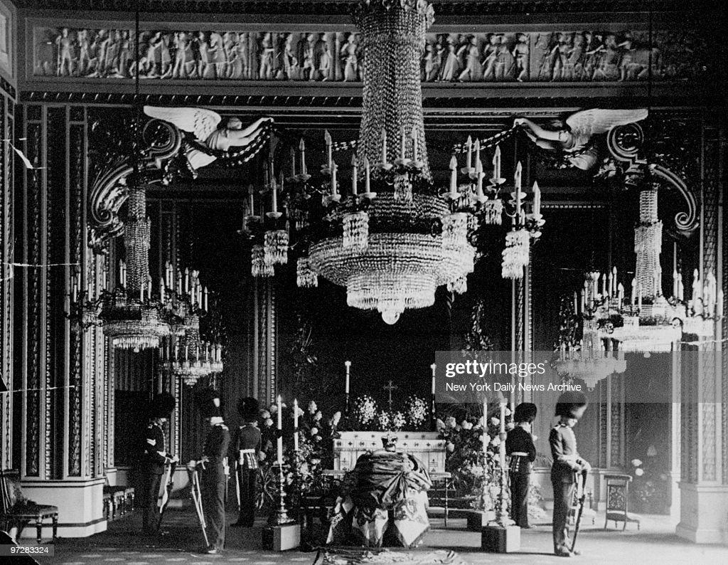 Lyinginstate ceremony of King Edward Vll