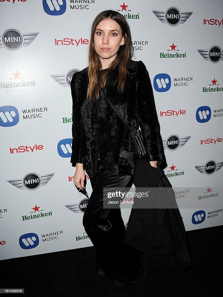 Lykke Li attends the Warner Music Group 2013 Grammy celebration at Chateau Marmont on February 10, 2013 in Los Angeles, California.