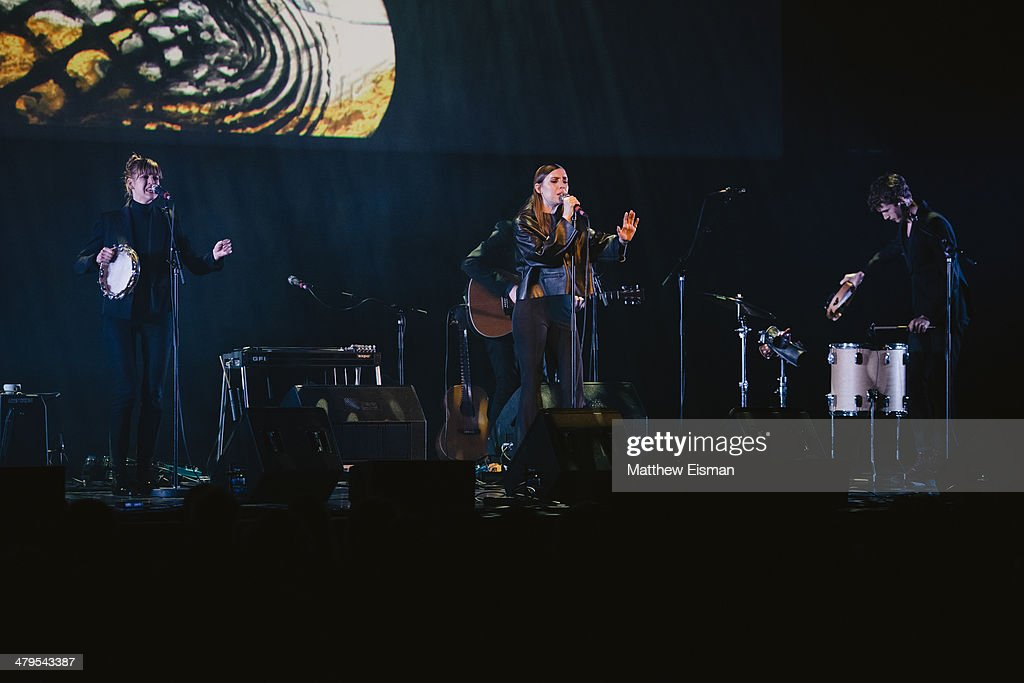 Lykke Li performs at the 'Stopp - Let's Protect the Park' nature benefit concert at Harpa Concert Hall on March 18, 2014 in Reykjavik, Iceland.