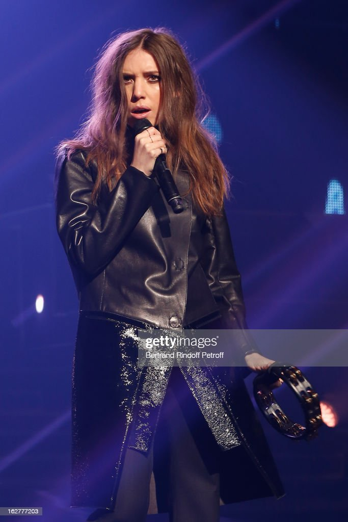 Lykke Li performs during the Etam Live Show Lingerie at Bourse du Commerce on February 26, 2013 in Paris, France.