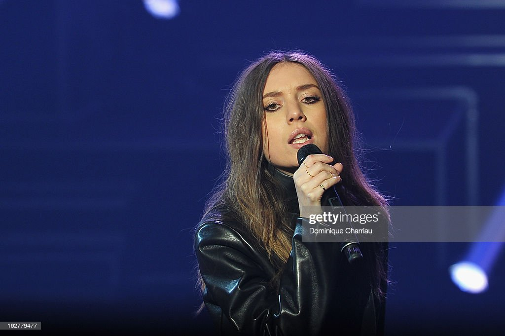 Lykke Li performs live during the Etam Live Show Lingerie at Bourse du Commerce on February 26, 2013 in Paris, France.