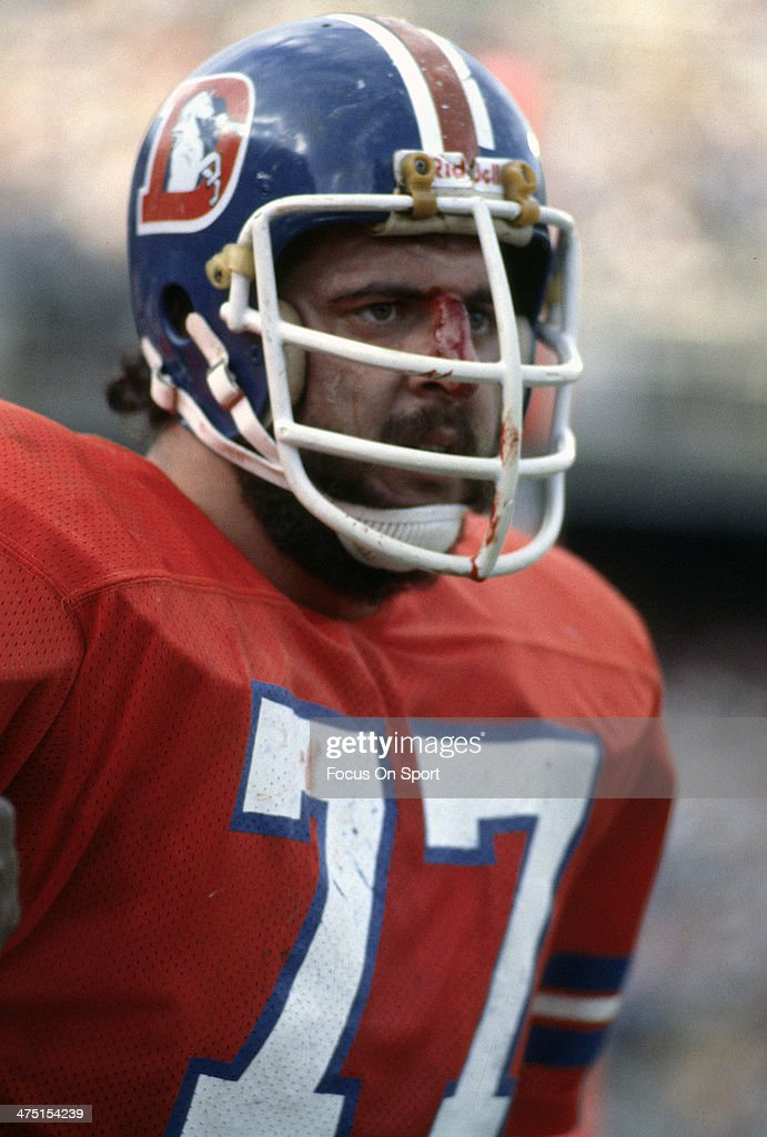 <a gi-track='captionPersonalityLinkClicked' href=/galleries/search?phrase=Lyle+Alzado&family=editorial&specificpeople=544733 ng-click='$event.stopPropagation()'>Lyle Alzado</a> #77 of the Denver Broncos looks on from the sidelines during an NFL Football game circa 1978 at Mile High Stadium in Denver, Colorado. Alzado played for Broncos from 1971-78.