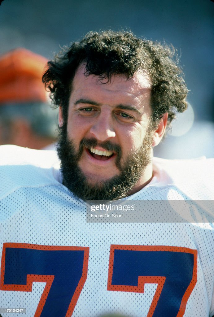 <a gi-track='captionPersonalityLinkClicked' href=/galleries/search?phrase=Lyle+Alzado&family=editorial&specificpeople=544733 ng-click='$event.stopPropagation()'>Lyle Alzado</a> #77 of the Denver Broncos looks on from the sidelines during an NFL Football game circa 1978. Alzado played for Broncos from 1971-78.