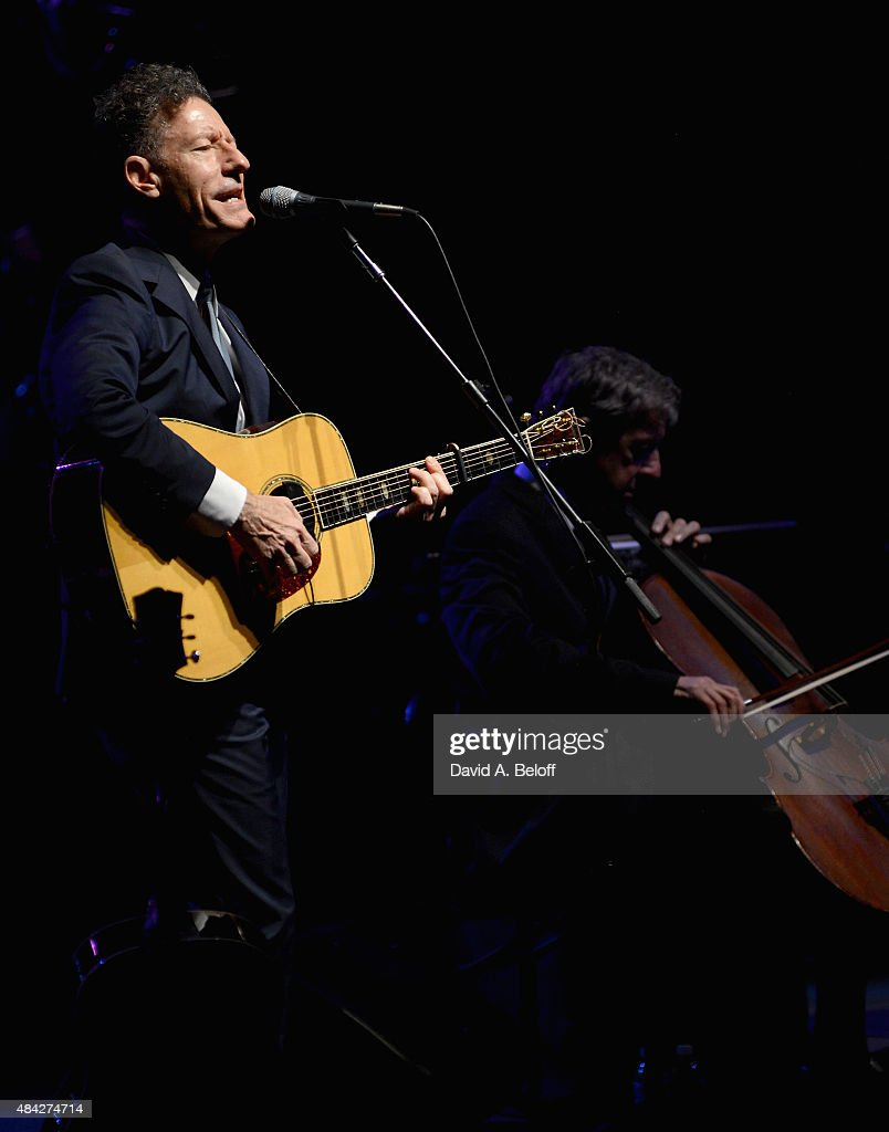 Lyle Lovett and His Large Band performs at Sandler Center For The Performing Arts on August 16, 2015 in Virginia Beach, Virginia.