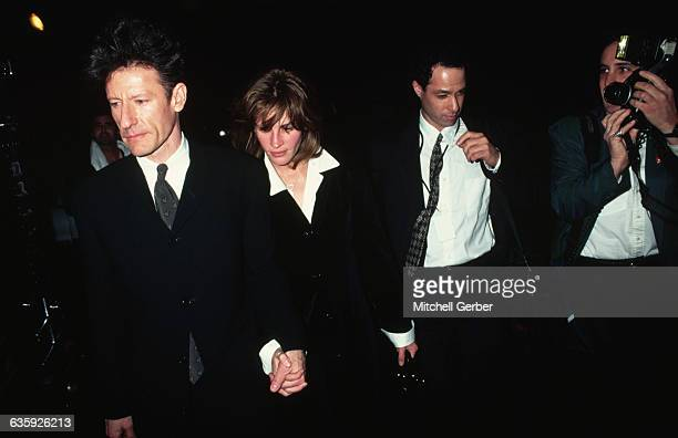 Lyle Lovett and Julia Roberts during their brief marriage