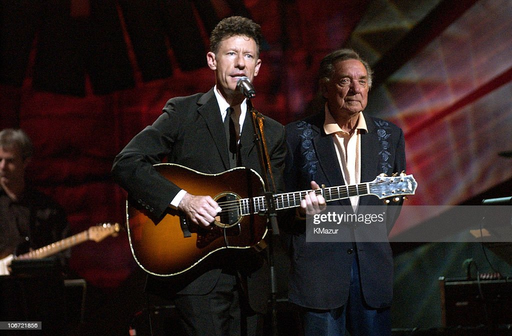 Lyle Lovett and Ray Price during 'Willie Nelson and Friends: Live and Kickin'' Premieres on USA Network May 26, 2003 - Show at Beacon Theatre in New York City, New York, United States.