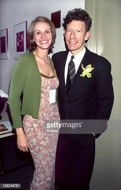 Lyle Lovett Julia Roberts during Rainforest Foundation Benefit Concert April 30 1997 at Carnegie Hall in New York New York United States