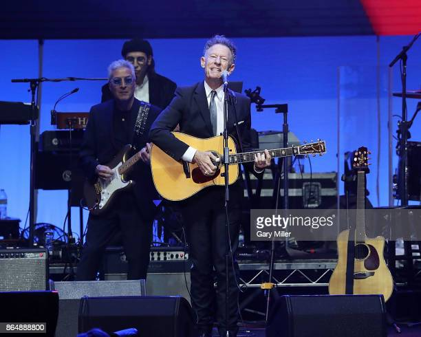 Lyle Lovett performs in concert during the 'Deep From The Heart One America Appeal Concert' at Reed Arena on October 21 2017 in College Station Texas